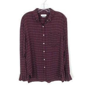 Isabel Marant Etoile Prune Purple Flannel Top